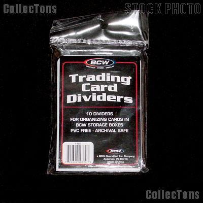 Card Dividers for Sports Cards by BCW 25 Packs of 10 Trading Card Dividers