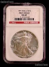 1994 American Silver Eagle Dollar FIRST STRIKES in NGC MS 69