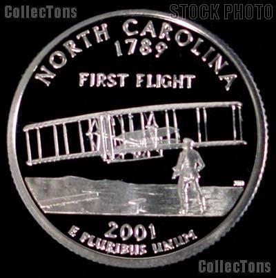 2001-S North Carolina State Quarter PROOF Coin 2001 Quarter