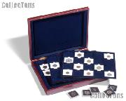Coin Presentation Case 60 Coins in 2x2 Quadrum Coin Holders VOLTERRA by Lighthouse