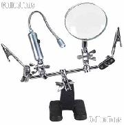 Third Hand Tool w/ 2x Magnifier & Flex Neck Light LED