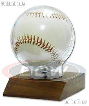 Baseball Display by BCW Woodbase Baseball Holder Real Walnut
