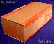 Corrugated Cardboard Coin Transport Box for Quarter Rolls