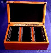 Vertical Row Wooden Coin Box for 30 Slab Holders