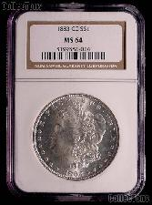 1883-CC Morgan Silver Dollar in NGC MS 64