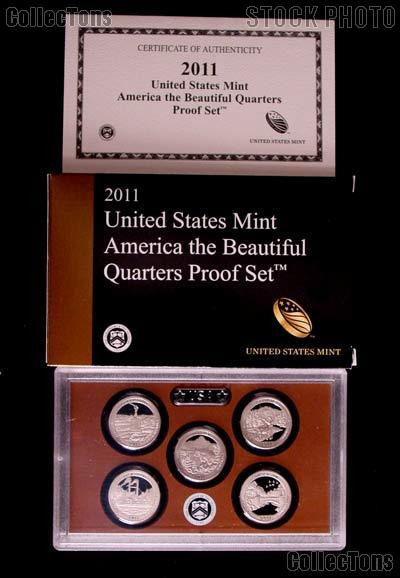 2011 QUARTER PROOF SET * ORIGINAL * 5 Coin U.S. Mint Proof Set