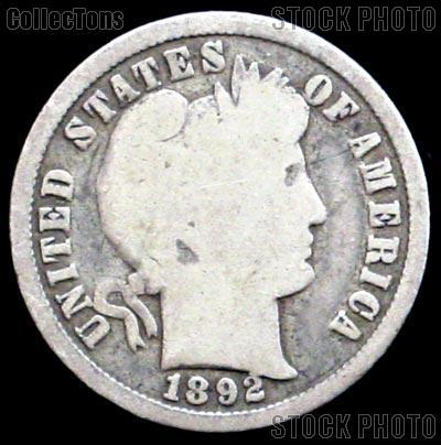 1892-S Barber Dime G-4 or Better Liberty Head Dime