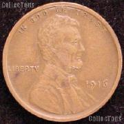 1916 Wheat Penny Lincoln Wheat Cent Circulated G-4 or Better