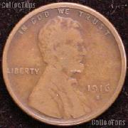 1916-S Wheat Penny Lincoln Wheat Cent Circulated G-4 or Better