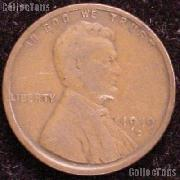 1919-D Wheat Penny Lincoln Wheat Cent Circulated G-4 or Better