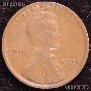 1921 Wheat Penny Lincoln Wheat Cent Circulated G-4 or Better