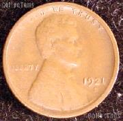 1921-S Wheat Penny Lincoln Wheat Cent Circulated G-4 or Better