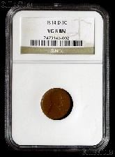 1914-D Lincoln Wheat Cent KEY DATE in NGC VG 8 BN