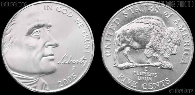 2005-P Jefferson Nickel GEM BU Buffalo Bison Design from Westward Journey Series
