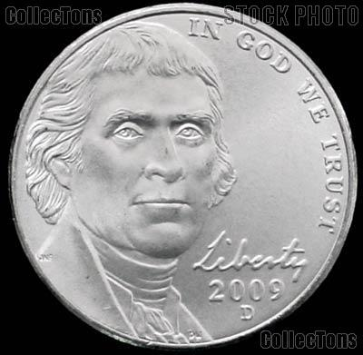 2009-D Jefferson Nickel Gem BU (Brilliant Uncirculated)