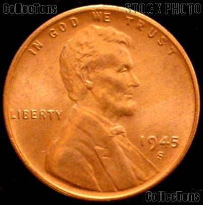 1945 Penny http://www.collectons.com/shop/item/336/1945-S-Lincoln-Wheat-Cent-GEM-BU-RED-Penny-for-Album