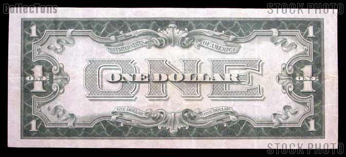 "One Dollar Bill Silver Certificate ""Funny Back"" Series 1928 US Currency Good or Better"