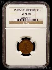 1909-S/HOR S Lincoln Wheat Cent KEY DATE in NGC VF 20 BN (Brown)