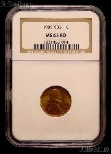 1909 VDB Lincoln Wheat Cent in NGC MS 65 RD (Red)