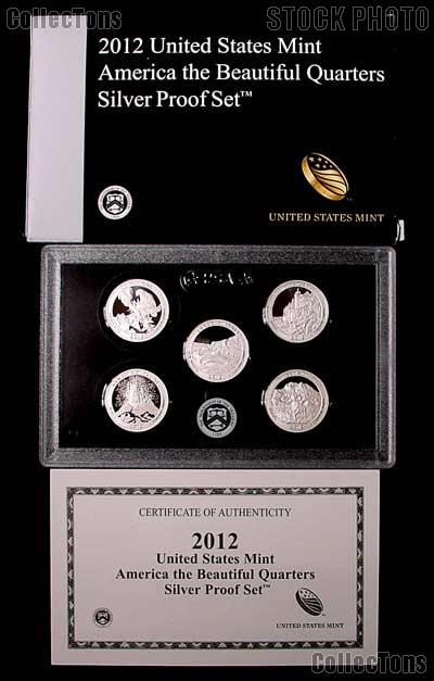 2012 SILVER QUARTER PROOF SET * 5 Coin U.S. Mint Proof Set