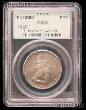 1920 Pilgrims Landing at Plymouth Tercentenary Silver Commemorative Half Dollar in PCGS MS 62
