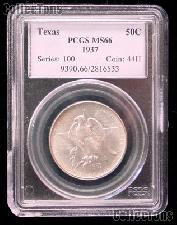 1937 Texas Independence Centennial Silver Commemorative Half Dollar in PCGS MS 66