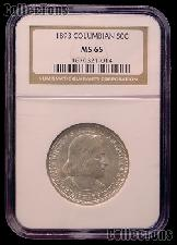 1893 World's Columbian Exposition Silver Commemorative Half Dollar in NGC MS 65