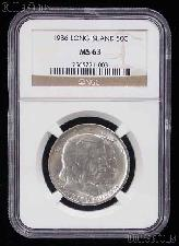 1936 Long Island Tercentenary Silver Commemorative Half Dollar in NGC MS 63