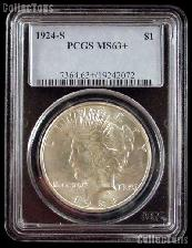 1924-S Peace Silver Dollar in PCGS MS 63+