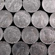 Peace Silver Dollars Mixed Dates AU+ Condition