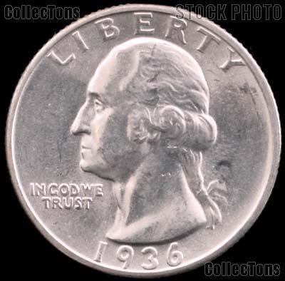 1936-D Washington Silver Quarter Gem BU (Brilliant Uncirculated)