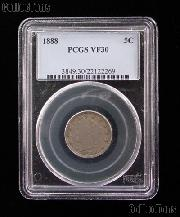 1888 Liberty Head V Nickel in PCGS VF 30