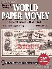 Krause Standard Catalog of World Paper Money General Issues 1368-1960 14th Edition by Cuhaj - Paperback
