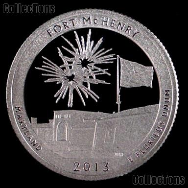 2013-S Maryland Fort McHenry National Park Quarter GEM SILVER PROOF America the Beautiful