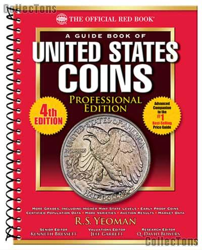 Official Red Book Professional Edition Guide Book of U.S. Coins 4th Edition Whitman - Large Spiral