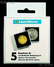 Coin Holder 49mm by Lighthouse (QUADRUM XL 49) 5 Pack of 49mm 2.5x2.5 Plastic Coin Holders