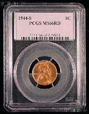 1944-S Lincoln Wheat Cent in PCGS MS 66 RD (Red)