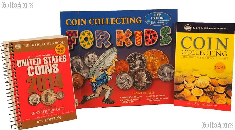 Children's Coin Collecting Kit - Coin Album & Two Books