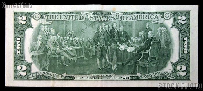 Two Dollar Bill Green Seal FRN STAR NOTE Series 1976 US Currency Good or Better