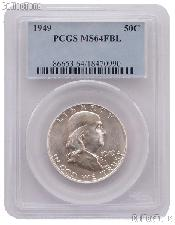 1949 Franklin Silver Half Dollar in PCGS MS 64 FBL (Full Bell Line)