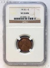 1915-S Lincoln Wheat Cent KEY DATE in NGC VF 20 BN