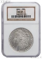 1882 Morgan Silver Dollar in NGC MS 65