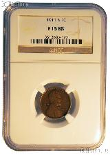1911-S Lincoln Wheat Cent KEY DATE in NGC F 15 BN (Brown)
