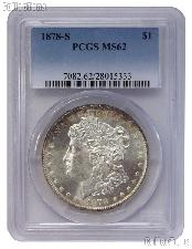1878-S Morgan Silver Dollar in PCGS MS 62