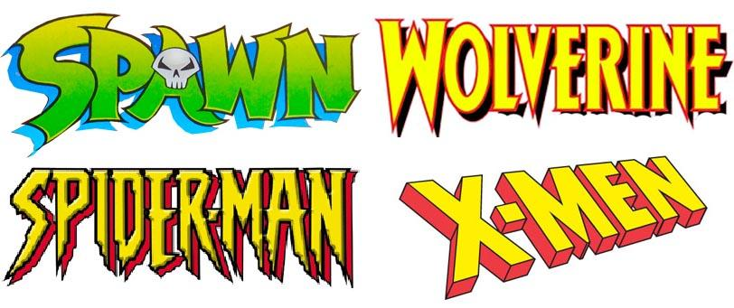 Comic Book Logos