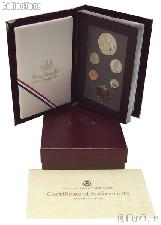 1988 PRESTIGE PROOF SET Deluxe Box & Papers 6 Coin U.S. Mint Proof Set
