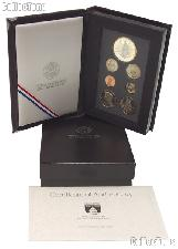 1989 PRESTIGE PROOF SET Deluxe Box & Papers 7 Coin U.S. Mint Proof Set