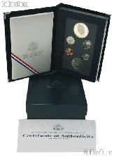 1990 PRESTIGE PROOF SET Deluxe Box & Papers 6 Coin U.S. Mint Proof Set