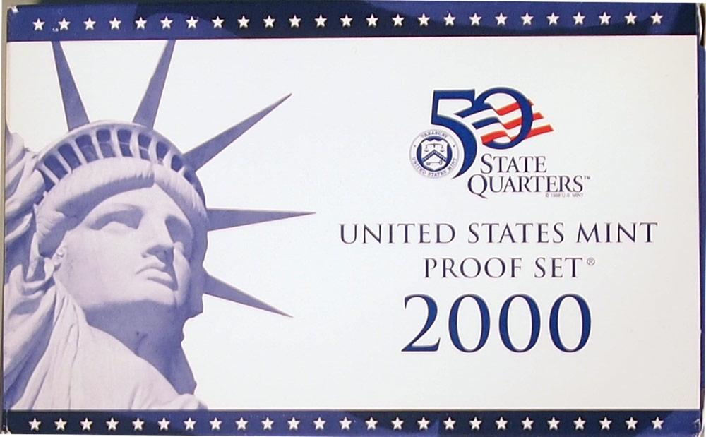 2000 PROOF SET * ORIGINAL * 10 Coin U.S. Mint Proof Set