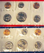 1994 Mint Set - All Original 10 Coin U.S. Mint Uncirculated Set
